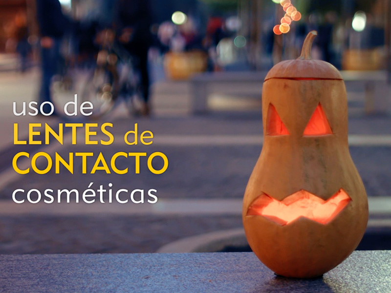 The use of cosmetic contact lenses on Halloween
